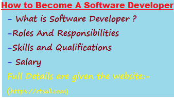 Roles and Responsibilities of Software Developer